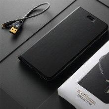 Dux Роскошные Флип кожаный чехол для iPhone 7 Plus Book Стоять Кошелек, Чехол для iPhone 7 6 6S плюс чехол телефона + USB кабель для передачи данных