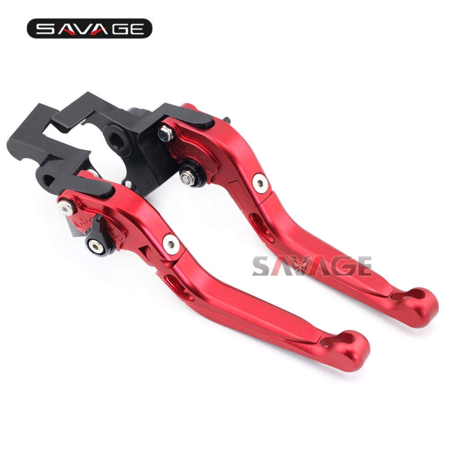 For MV Agusta F4/F4R 12-16, F4 750/1000/312R/312RR Motorcycle Aluminum Adjustable Folding Extendable Brake Clutch Lever Red