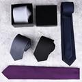 Nuevo Clásico del hombre Corbatas 7 cm Tejido de Poliéster con Rayas Negro Azul Rojo Naranja Corbata Del Banquete de Boda de Negocios Corbata Casual