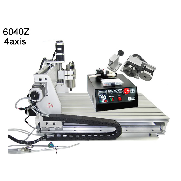 Good helper CNC router 6040 milling engraving machine ER11 MACH3 control with 0.8 KW  water-cooling spindle eur free tax cnc 6040z frame of engraving and milling machine for diy cnc router