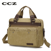 CCZ Canvas Bag 14 Laptop Computer Bags Casual Style Canvas School Bag Mens Crossbody Bag HB8010