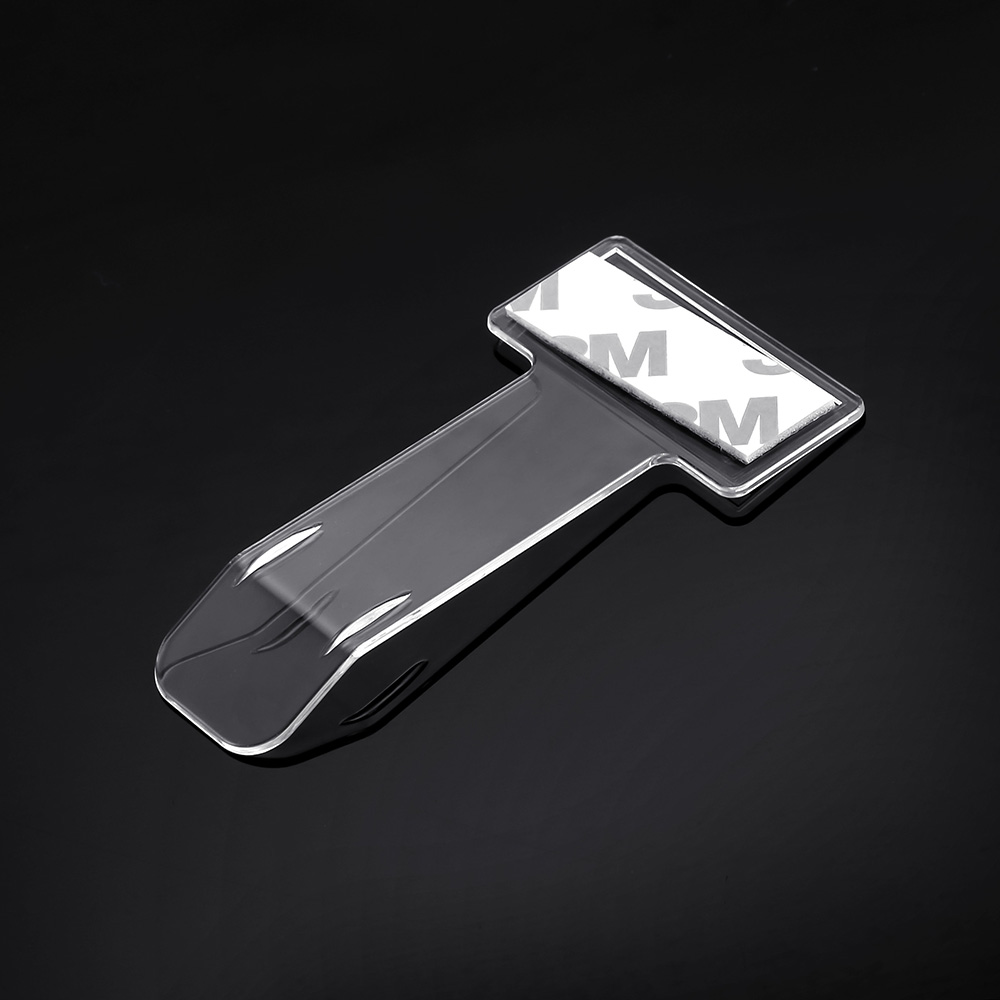 1 pièce dossier de billet de voiture Mini t-forme Transparent respectueux de l'environnement dossier de billet de voiture monture pour support de voiture style pour bureau maison