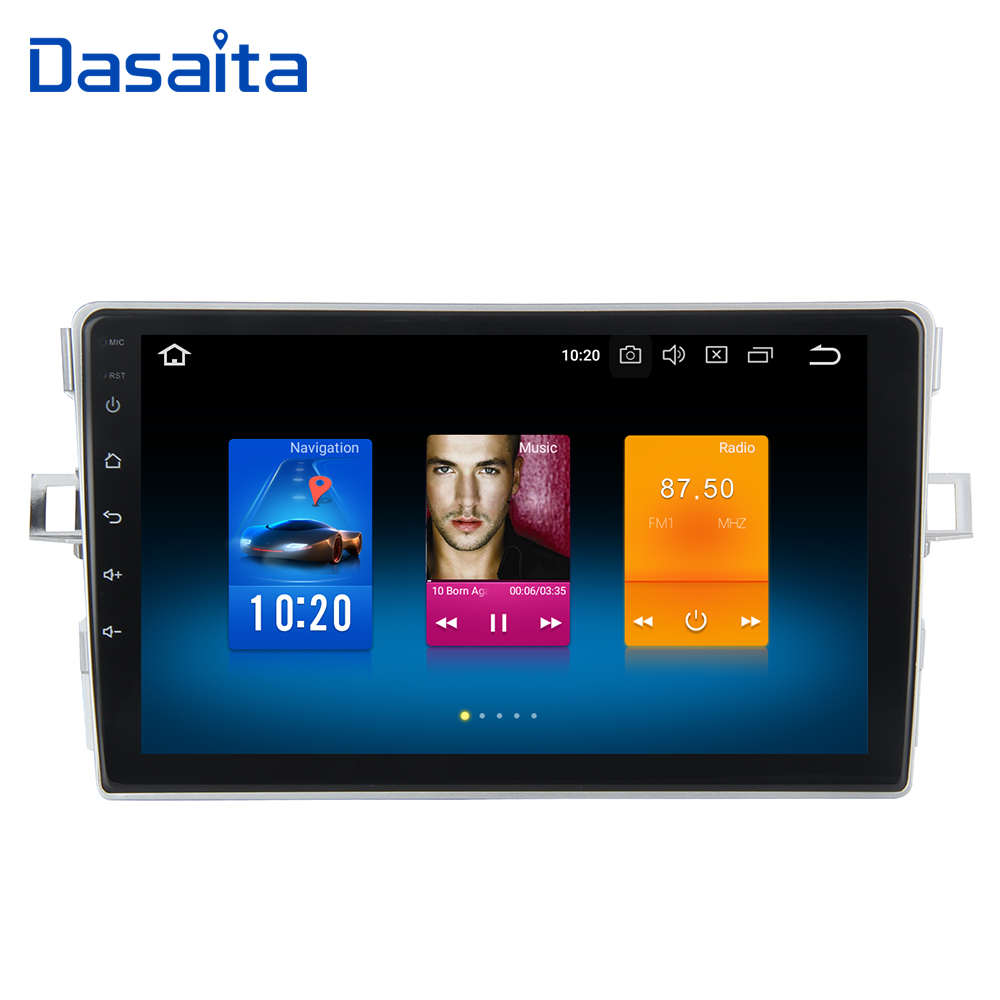 Dasaita 9 Android 8.0 Multimédia De Voiture pour Toyota Verso EZ Radio 2007 2008 2009 2010 2012 2013 2014 2015 2016 Autoradio GPS Vidéo