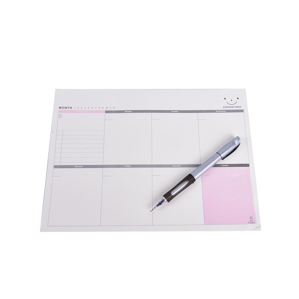 1PC A4 Schedule Organizer Check List Week Planner Sticker Sticky Note Memo Pad baby happy expression style sticky note memo pads nude