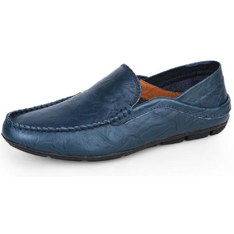 Big Size 36~47 High Quality Genuine Leather Men Shoes Soft Moccasins Loafers Fashion Brand Men Flats Comfy Driving Shoes GHB312  men luxury brand new genuine leather shoes fashion big size 39 47 male breathable soft driving loafer flats z768 tenis masculino
