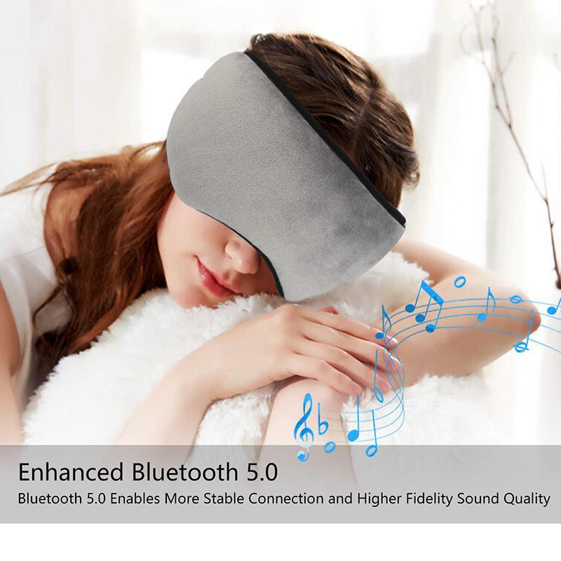 Sleep Headphone Bluetooth Sleep Mask Wireless Sleep Eye Mask Earphone Travel Eye Shades with Built-in Speakers Mic Handsfree d40 Pakistan