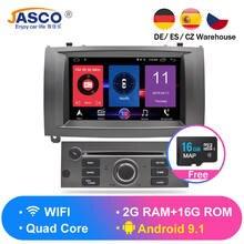 Android 9.0 9.1 MB di RAM Auto Glonass GPS di Navigazione per Auto DVD Stereo Autoradio per Peugeot 407 2004-2010 auto radio RDS Multimedia 16g