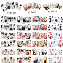 New Style 12 designs/Set=12 in 1 Characters Water Nail Decals & Stickers Nail Beauty Decoration Water Transfer DIY Nail Decals все цены