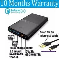 Vinsic Quick Charge 3 0 Power Bank 28000mah QC3 0 3 USB Ports 2 4A 3A