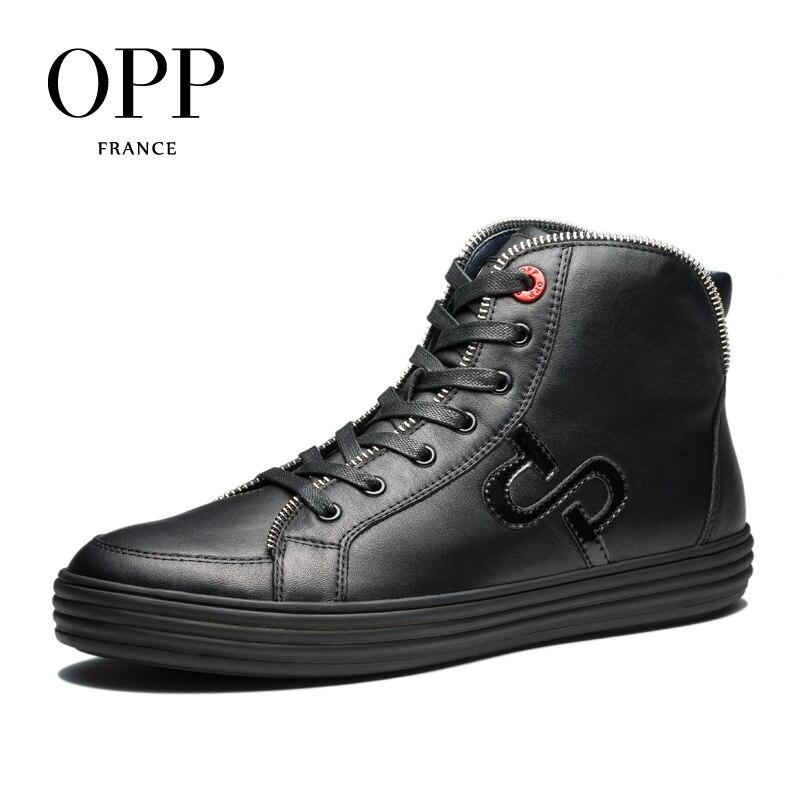 2017 Novos Ankle Preto Para Metal De Os Genuínos red Estilo Homens Couro Sapatos Boots Botas Opp Inverno dgZtnqd