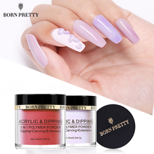 BORN PRETTY 3 in 1 Acrylic Dipping Nail Powders Pink Carving Extension Polymer Gradient French Nail Art Decorations No Lamp Cure