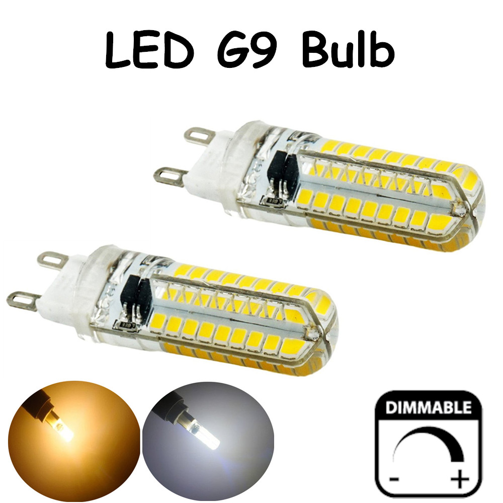 Dimmable 5 Watts Silicone Coated G9 LED Light Bulb 360 Degree G9 ...