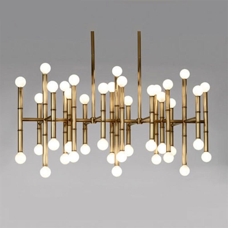 hanging lights for dining room Jonathan Adler Meurice Post modern design lamp pendant lighting Iron Tube