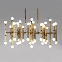Подвесные светильники для столовой Jonathan Adler Meurice Post современный дизайн лампы подвесное освещение стальная трубка светодиодные подвесные св