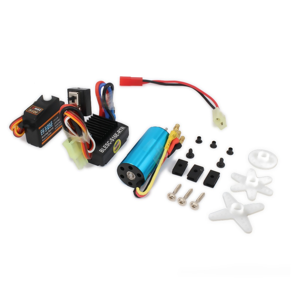 17g Servo&Kv4800 Brushless Motor&Speed Controller ESC  For Rc Hobby Model Car Hsp Wltoys A959 A969 A979 k929 hobbywing rc model eagle 20a r c hobby brushed motor esc speed controllers