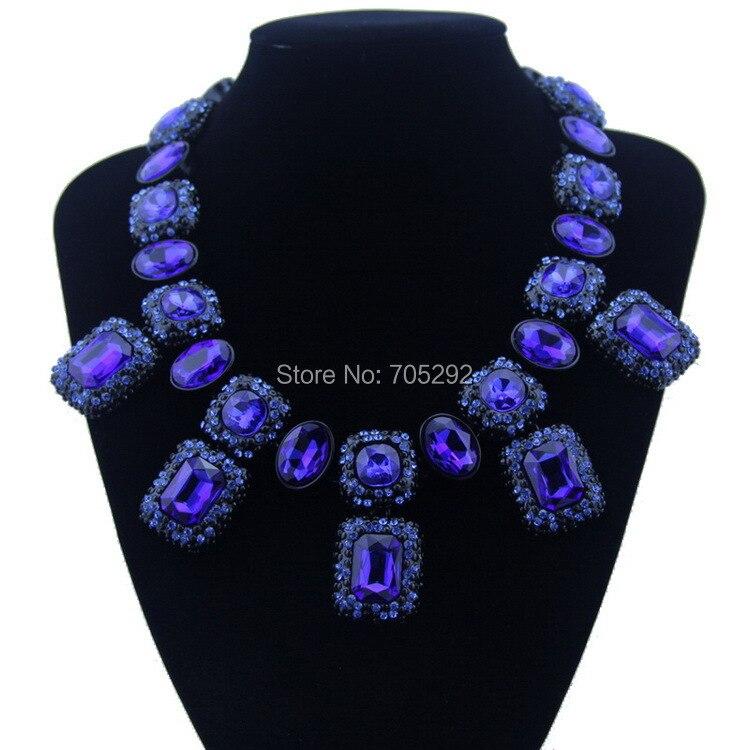 e49f799ed4a9 La nueva vendimia exageró Crystal teardrop collar declaración gargantilla  de lujo Collares para el partido