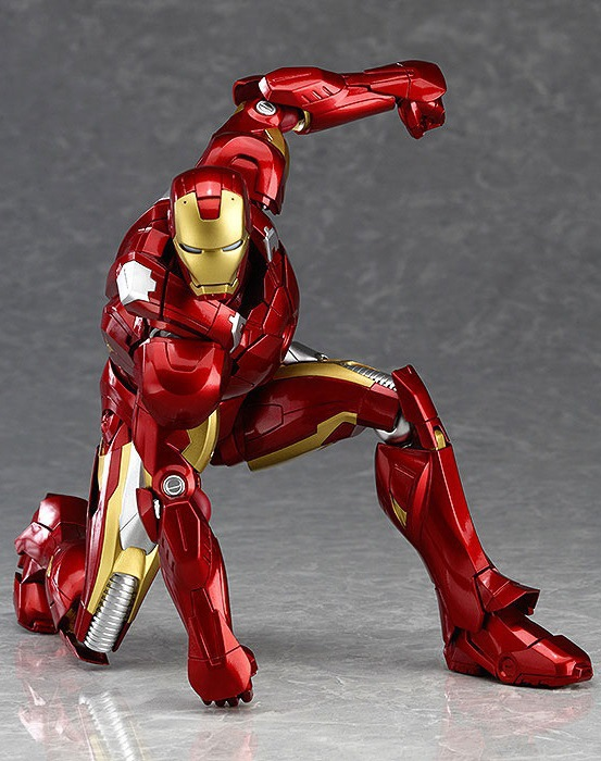 Superhero The Avengers Iron Man Figma Mark VII MK42 217 PVC Action Figure Collectible Model Toy 16cm