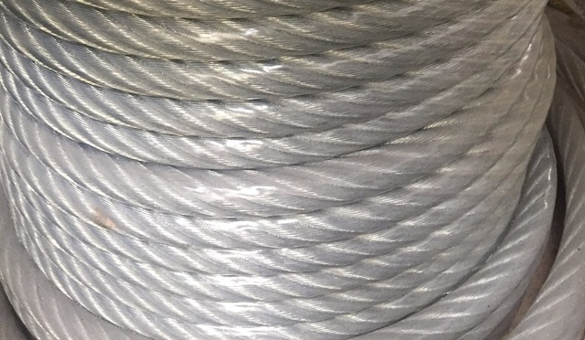11MM 18MM, PVC coated 6X37+FC steel wire rope hot dipped ...