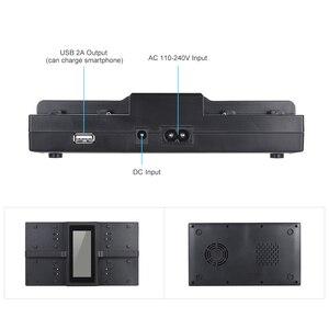 Image 4 - Andoer NP F970 4 ערוץ דיגיטלי מצלמה סוללה מטען w/LCD תצוגה עבור Sony NP F550 F750 F950 NP FM50 FM500H QM71