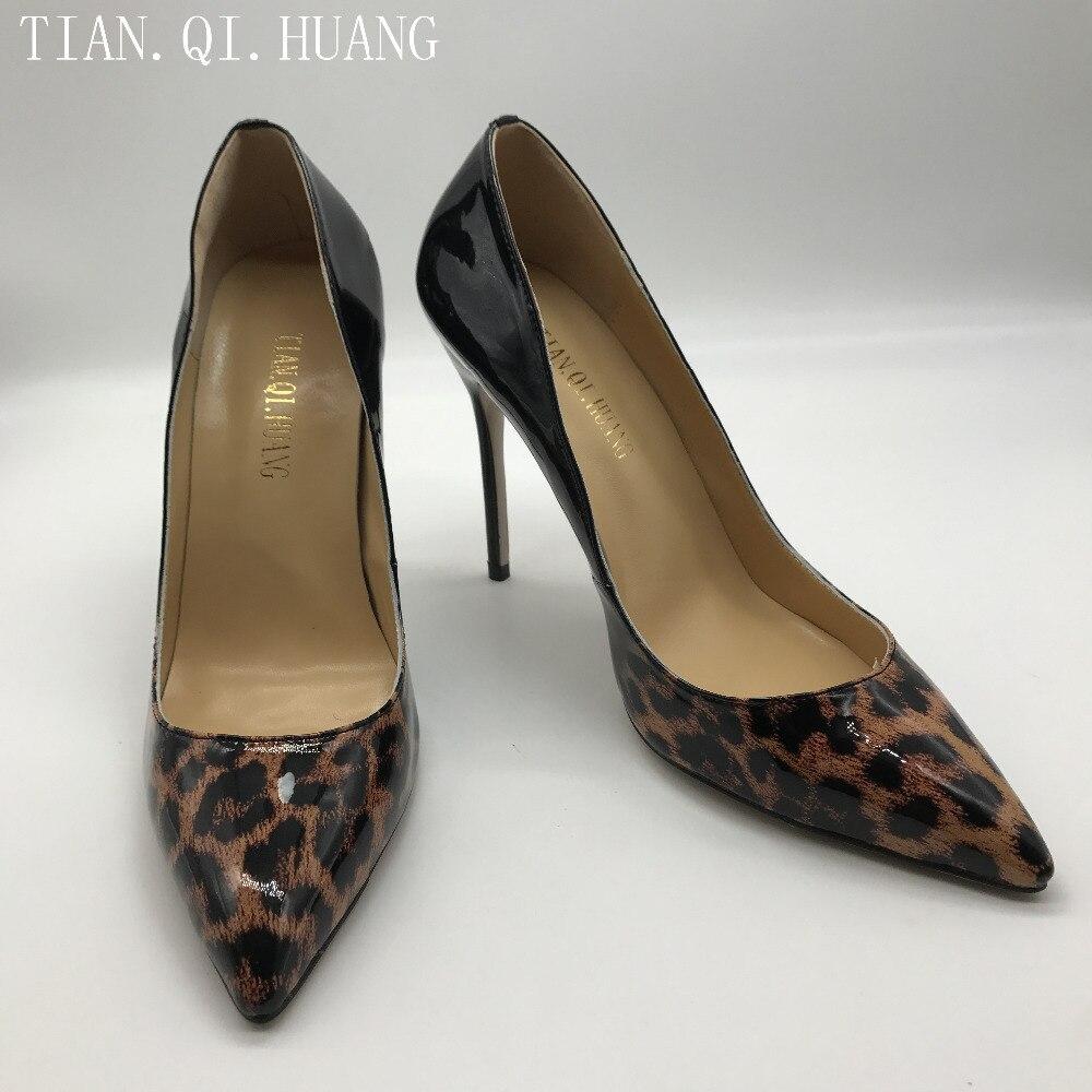 Alta Alto As Nuevo Calidad Diseño Huang Charol Zapatos Qi Photo Estrecha Informales Tacón Para Moda Mujer De Tian Sexy Punta wzfwqX