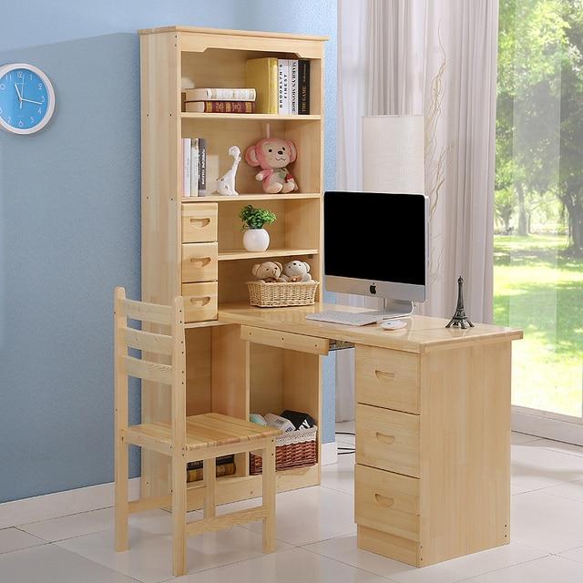Escritorio de madera maciza esquina escritorio de la computadora ...
