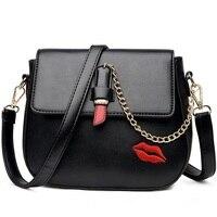 Women S Crossbody Bag Good Pu Leather Chains Sling Shoulder Messenger Bags Lipstick Design Ladies Pig