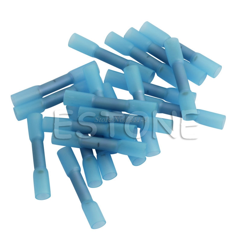 20Pcs 16-14AWG Heat Shrink Butt Wire Electric Crimp Terminal Connector New Dropship