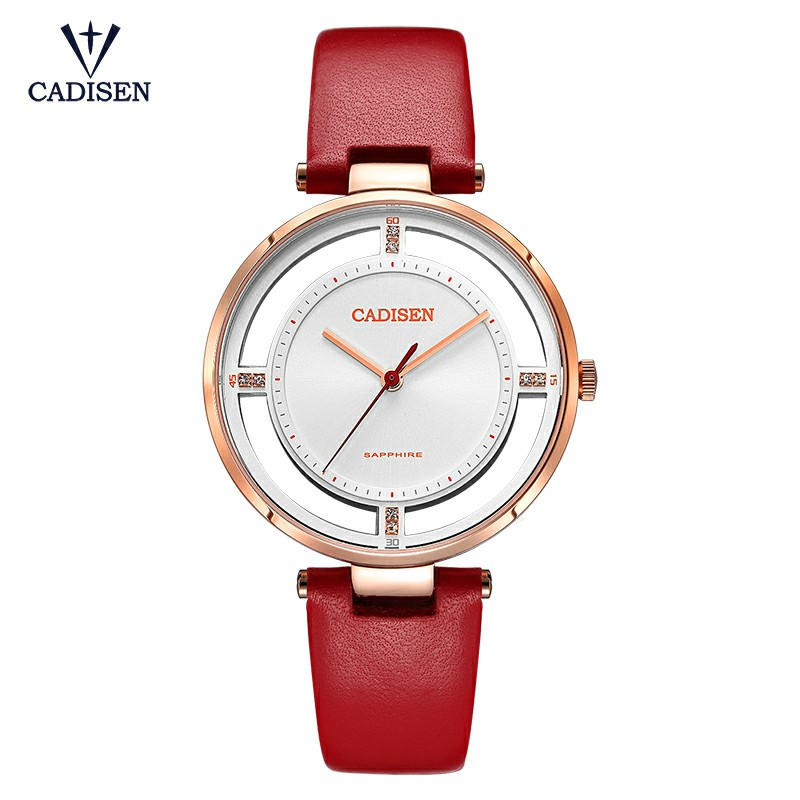 2018 New Fashion Gold Womens Watches Luxury Brand Leather Band Ladies Dress Quartz Wristwatches Sapphire Crystal Dial Clock in Women 39 s Watches from Watches