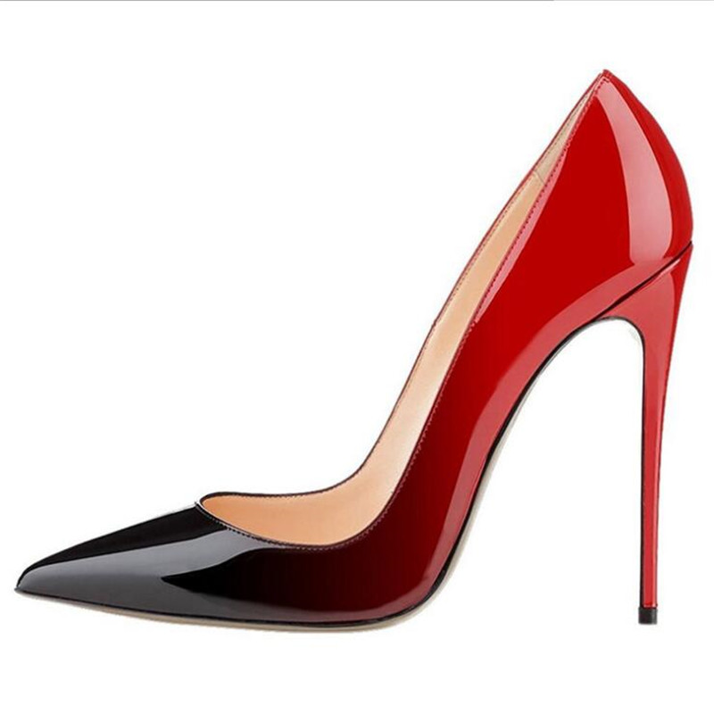 Bout Celebrity Chaussures 2 Pompes Brillant Pompe Color color 1 color 6 46 Printemps Taille Parti 3 color Dames Talons 4 Stilettos D'été Robe Haute color 5 color Femmes Sexy Pointu Gradient NP0nO8kXZw