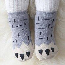 Nuevo estilo de otoño e invierno recién nacido patas calcetines 100% algodón caliente y gruesa divertido Socks 0-4 años de edad