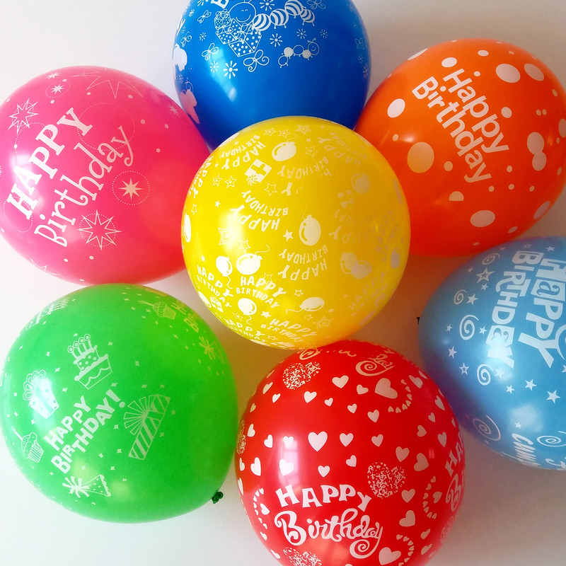 New Latex baloon12'' 2.8g Children's birthday party balloons printing balloon ba