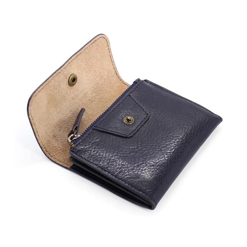 Image 2 - מטבע ארנקי נשים ארנקים עור אמיתי מיני ארנק קטן מטבע פאוץ Hasp & ציפר תיק כרטיס בעל כיס גברים עור פרה ארנקארנקים למטבעותמזוודות ותיקים -