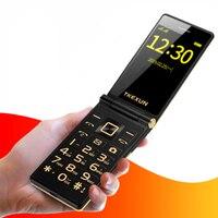 3G WCDMA flip Dual SIM cellphones 3.0 dual Screen senior touch FM cheap china mobile phone russian keyboard button TKEXUN G10 1