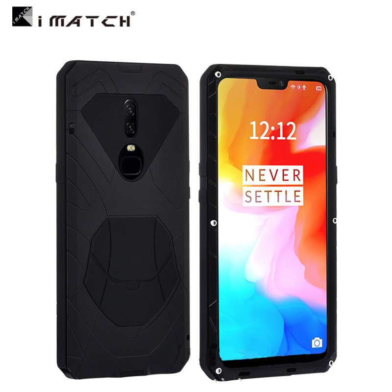 For Oneplus 6 1 6 Case aviation Aluminum alloy metal Silica back cover for oneplus6 cases