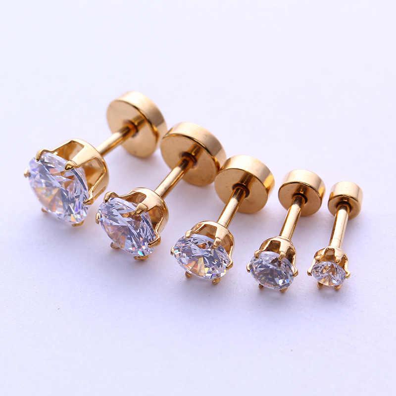 2pcs זהב SilverLabret שפתיים טבעת פנימי הברגה חודים רן מונרו 16G Tragus Helix אוזן פירסינג