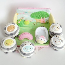6 шт./лот San-X Sumikko Gurashi японское аниме медведь игрушки Косплей панда мягкие плюшевые игрушки 10 см рождественские подарки