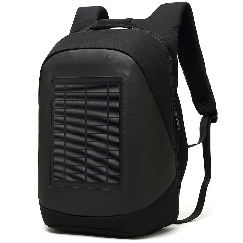 Image 2 - Solar Charging Backpack Men Businessmen laptop bag High tec Back Packs Anti theft Superior Pack Super cool different distinctive-in Backpacks from Luggage & Bags