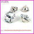 100 PCS/LOT18MM Móveis DIY Acessórios de Diamante de Cristal Strass Botões de Metal Shank Combined Shinnig