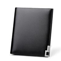 Genuine Leather Men's Wallet Mini Wallet Short Pack Driver's License Card