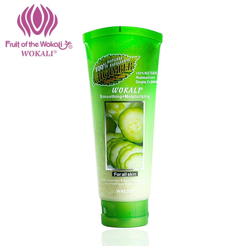 WOKALI 100g Natural Exfoliating Scrub Whitening Moisturizing Body Milk Peeling Cream Scrub Gel Cucumber Scent