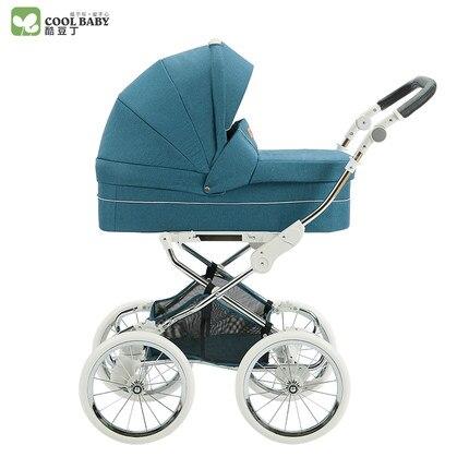 Coolbaby hohe View kinderwagen Europäischen Königlichen multifunktionalen zwei wege schock trolley echtes|baby stroller|stroller strollerbaby trolley -