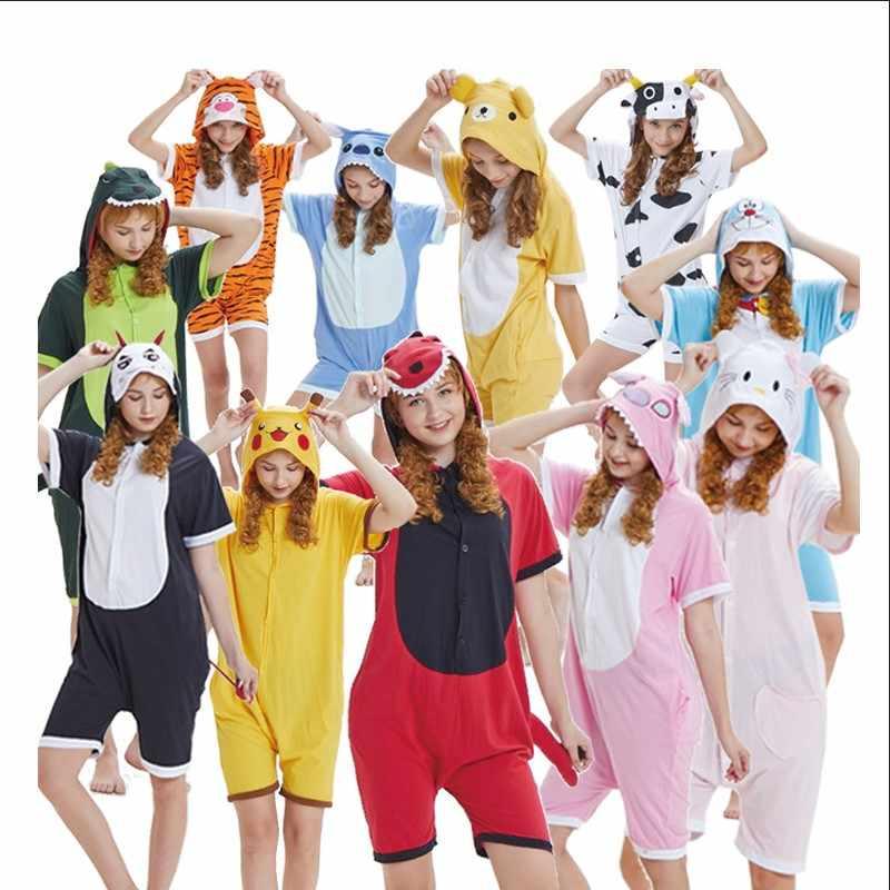 Летняя мужская пижама 2018 Kigurumi Harajuku Пижама домашняя одежда для  женщин косплэй Аниме костюмы белье Неглиже 6986c0fc35e44