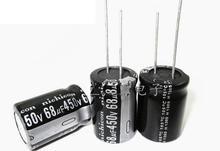 Бесплатная Доставка 10 шт. 450 В 68 мкФ 68UF450V электролитический конденсатор 18*25 мм новое и оригинальное