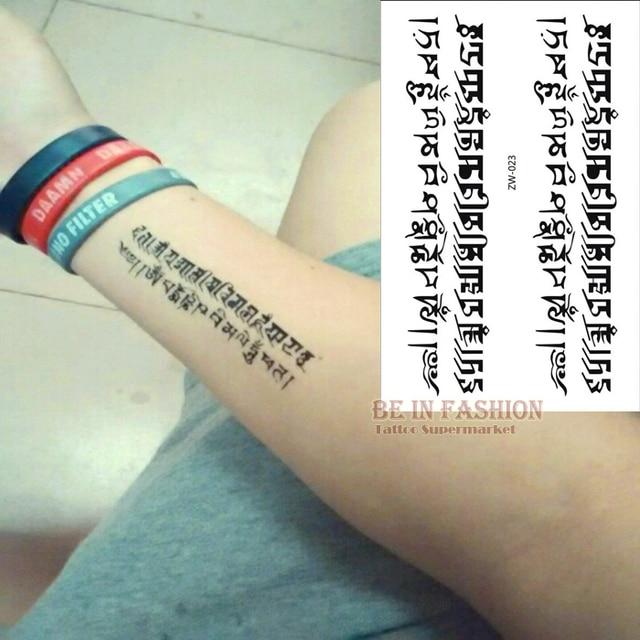Temporäre Tattoo Buchstaben Muster Körper Make Up Sanskrit