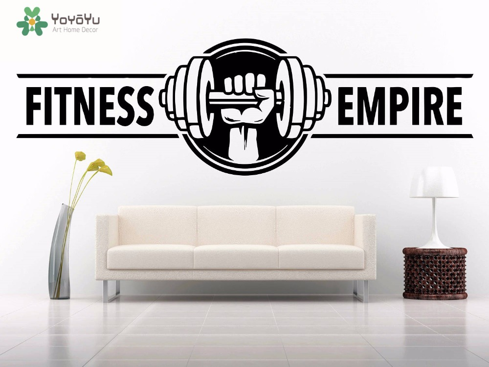 Fitness Weight Lifting Exercise Wall Sticker Set WS-47400