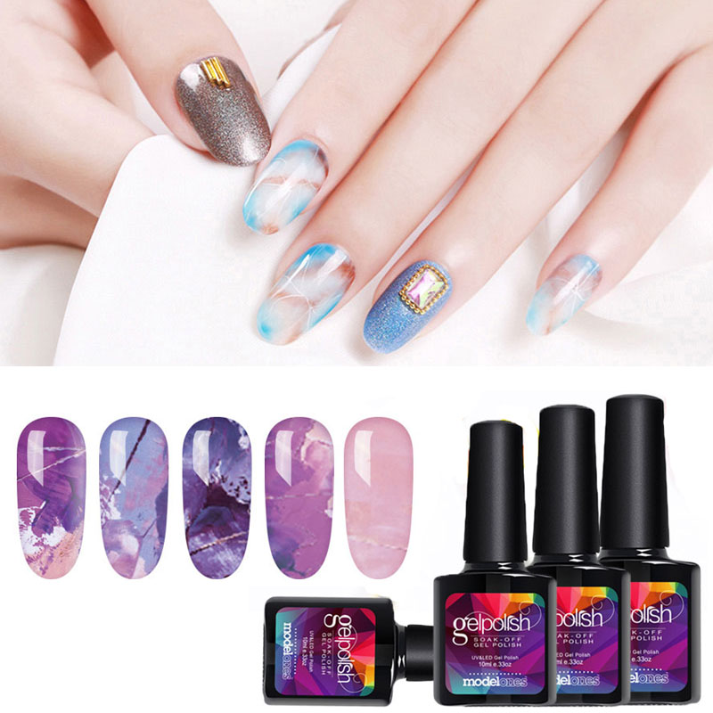 Modelones Blossom UV Gel Polish Nail Art Blooming Flower Pattern UV Led Nail Gel Polish Transparent Blossom UV Gel Nail Varnish цена 2017