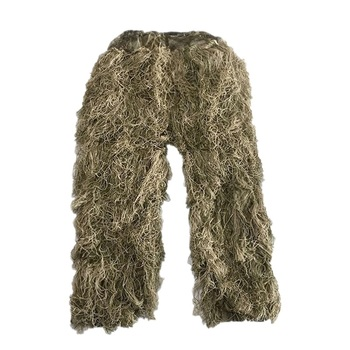 3D Withered Grass Ghillie Suit 4 PCS Sniper Military Tactical Camouflage Clothing Hunting Suit Army Hunting Clothes Birding Suit 4
