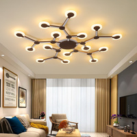 Personality creative modern LED chandelier Nordic living room bedroom study balcony home decoration chandelier lighting