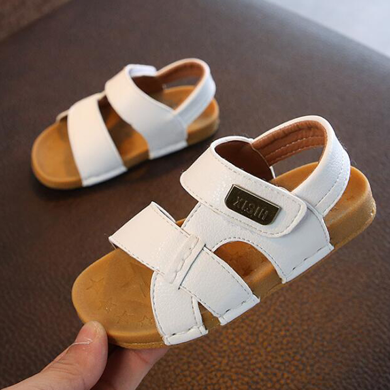 Boys Sandalies Children's Sandals Boys Stitching Simple Soft Bottom Sandals Girls Baby Beach Shoes Kids Tide 2019 Summer New