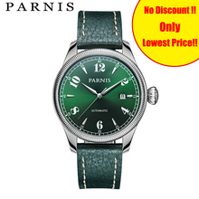 Décontracté Parnis hommes montre montres 43mm argent boîtier saphir cristal Auto-Date Top Grade marque hommes automatique montre hommes heure horloge
